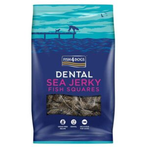 Fish4Dogs Dental Sea Jerky Fish Squares 115 g